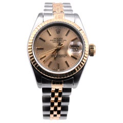 Rolex Datejust 18 Karat Gold and Stainless Steel Gold Dial Watch Ref 16233