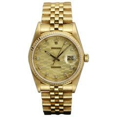 Rolex Datejust 18 Karat Yellow Gold Chevrolet Award Ref 16018, circa 1986