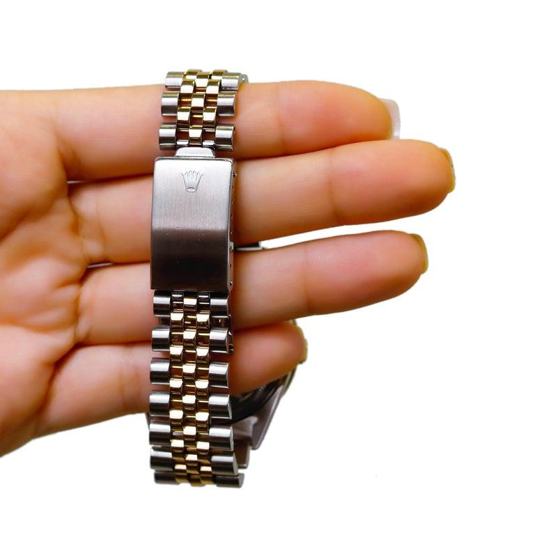 Rolex Datejust 1978 Men's Watch Diamond Bezel & Gold Diamond Dial Steel Jubilee For Sale 6