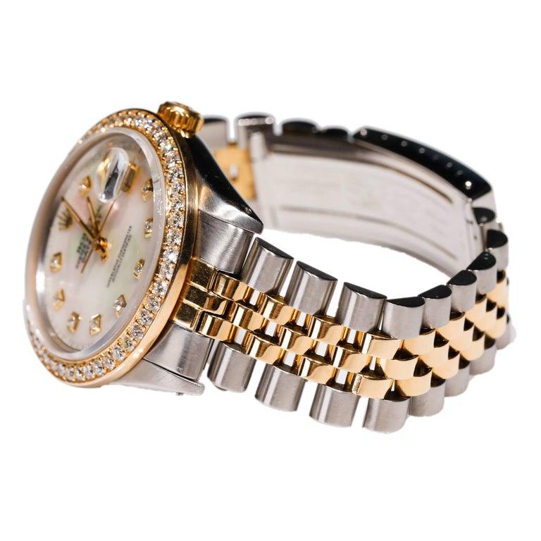 Rolex Datejust 1978 Men's Watch Diamond Bezel & Gold Diamond Dial Steel Jubilee Rolex Two Tone Datejust Men's 1978, Automatic Diamond Pearl Dial 18 karat Gold  SKU: WA00007  PRIMARY DETAILS Brand:  Rolex Model: ROLEX OYSTER PREPETUAL