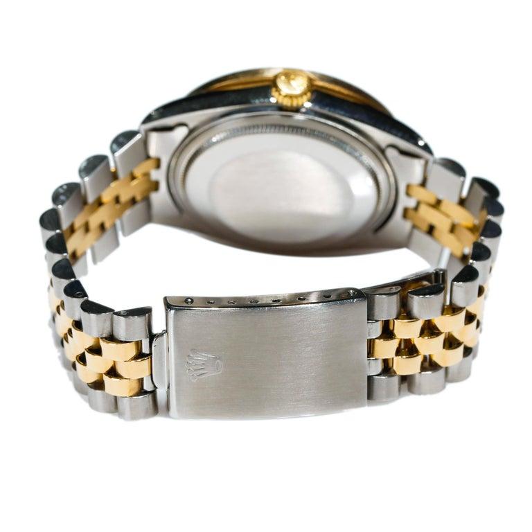Rolex Datejust 1978 Men's Watch Diamond Bezel & Gold Diamond Dial Steel Jubilee For Sale 1