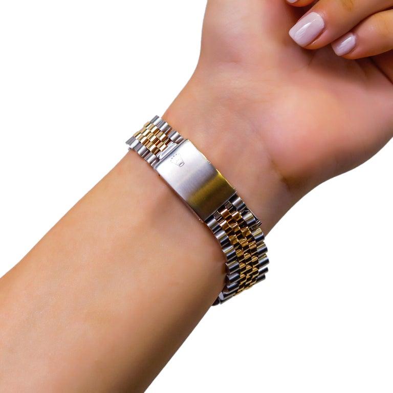 Rolex Datejust 1978 Men's Watch Diamond Bezel & Gold Diamond Dial Steel Jubilee For Sale 4