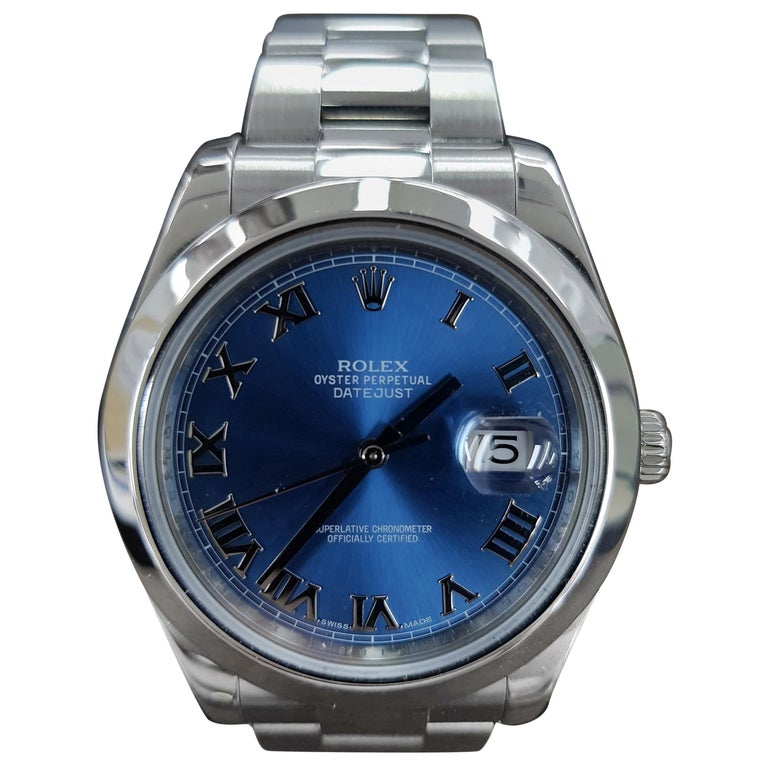 Rolex Datejust 2, Stainless Steel, Model Number 116300, Registered 2015 For Sale