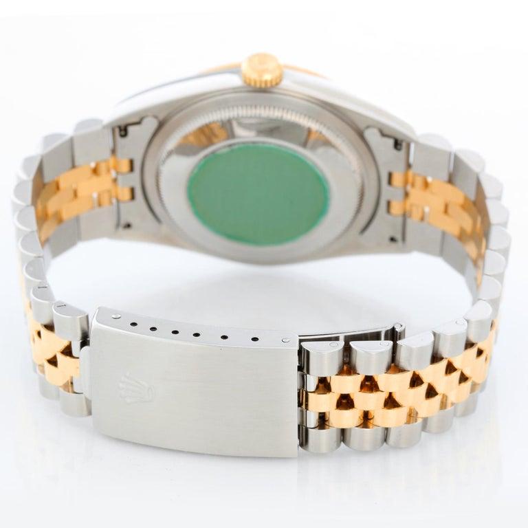 Rolex Datejust 2-Tone Men's Steel & Gold Watch 16233 In Excellent Condition In Dallas, TX