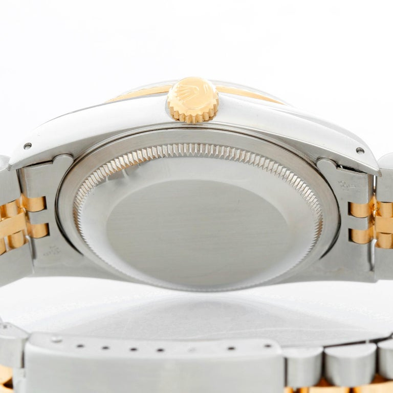 Rolex Datejust 2-Tone Men's Steel and Gold Watch 16233 In Excellent Condition For Sale In Dallas, TX