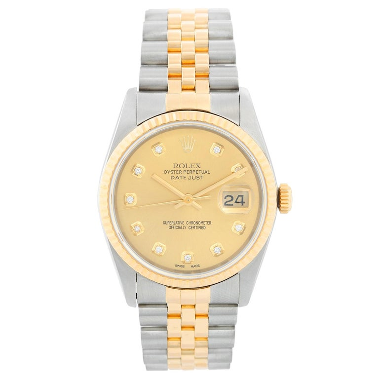 Rolex Datejust 2-Tone Men's Steel and Gold Watch 16233 For Sale 1