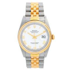 Rolex Datejust 2-Tone Men's Steel & Gold Watch 16233