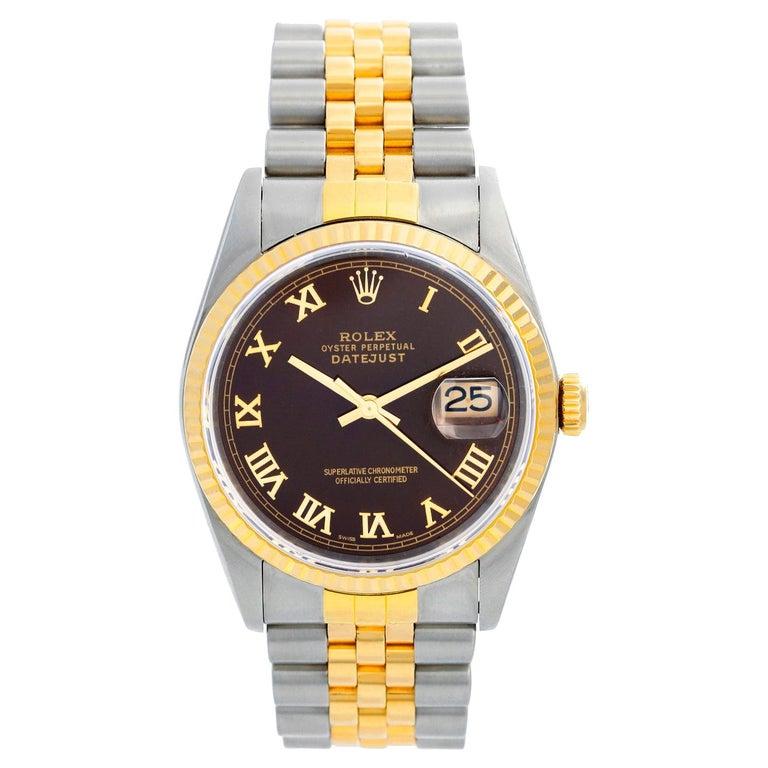 Rolex Datejust 2-Tone Men's Steel & Gold Watch 16233 For Sale