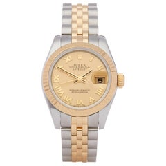 Rolex Datejust 26 179173 Ladies Stainless Steel and Yellow Gold Watch