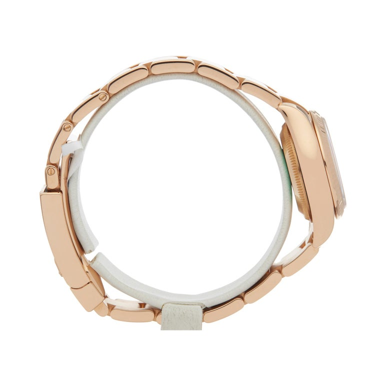 Women's or Men's Rolex Datejust 26 18 Karat Rose Gold 179175 For Sale