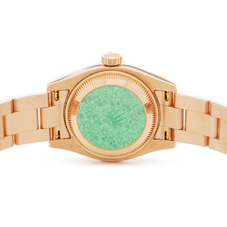 Rolex Datejust 26 18 Karat Rose Gold 179175 For Sale 2