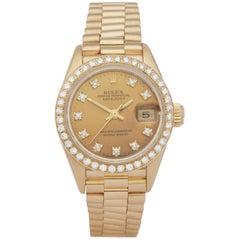 Rolex Datejust 26 69138 Ladies Yellow Gold Diamond Watch