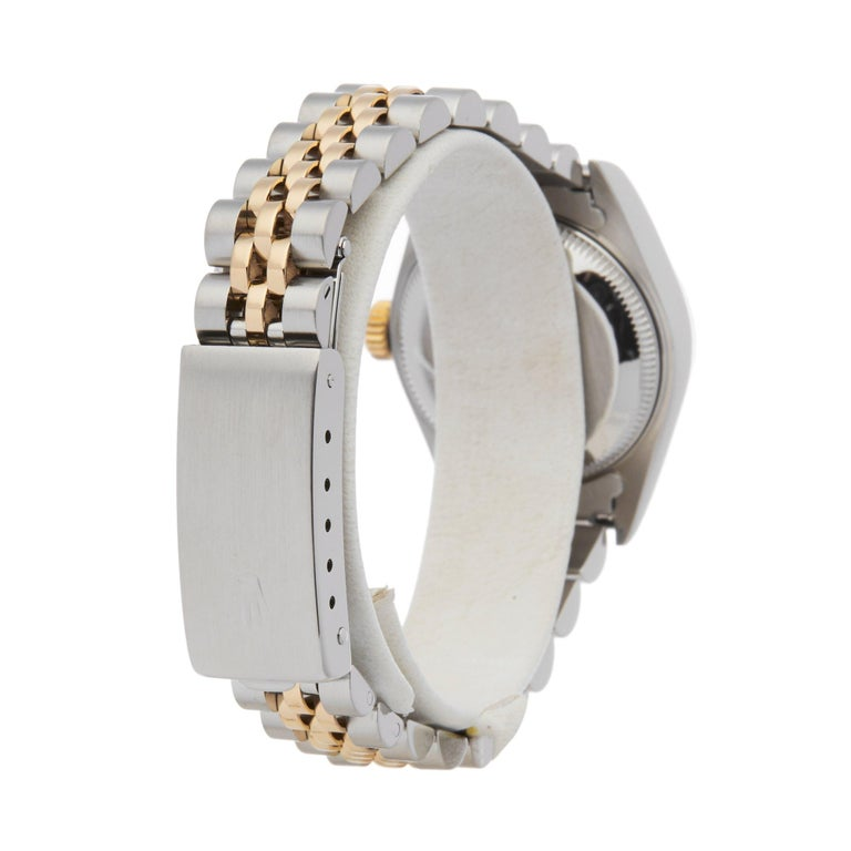 Rolex Datejust 26 69173 Ladies Stainless Steel and Yellow Gold Diamond Watch For Sale 1