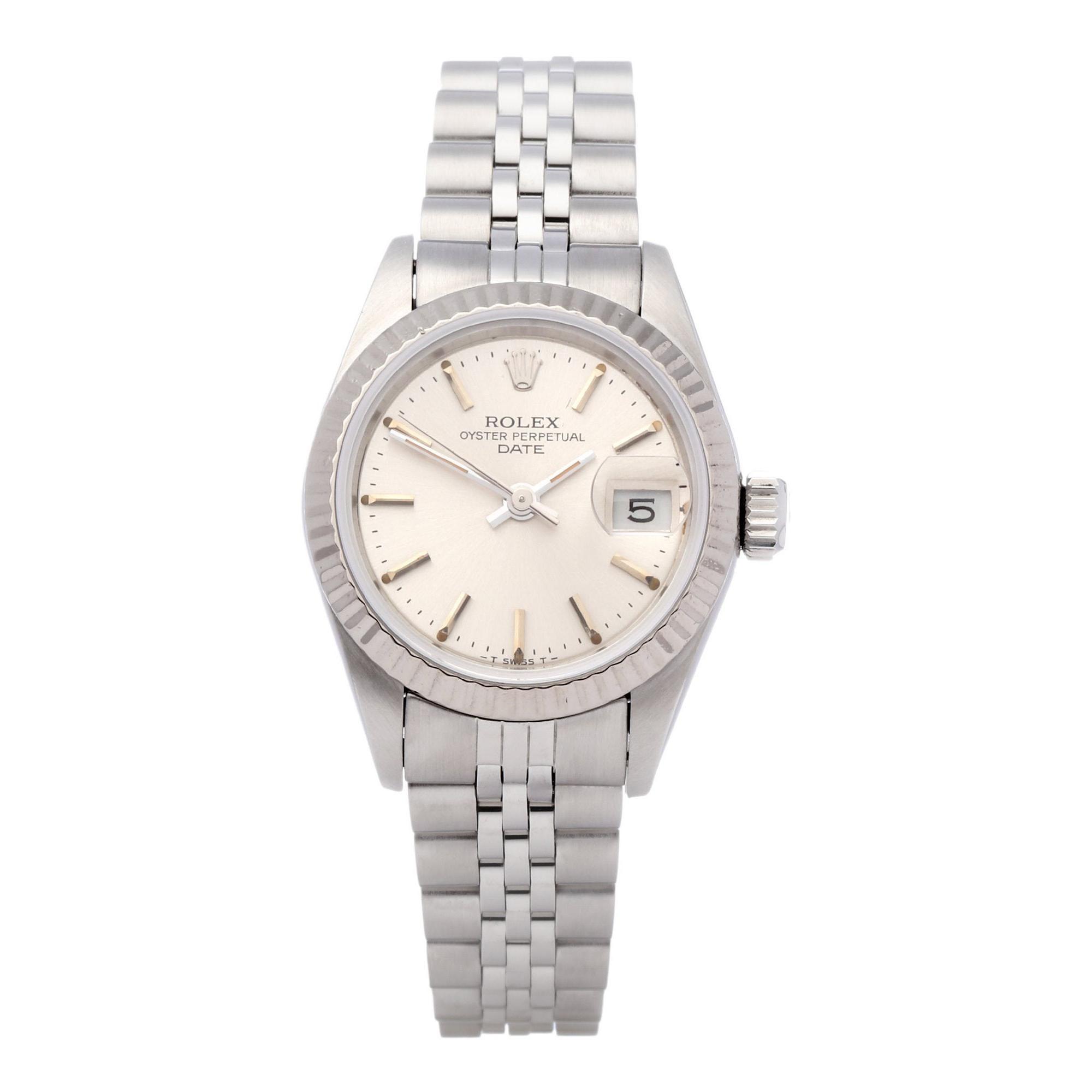 Rolex Datejust 26 69174 Ladies White Gold & Stainless Steel Watch