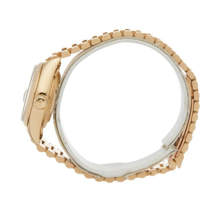 Rolex Datejust 26 69178 Ladies Yellow Gold Jubilee Dial Watch In Excellent Condition For Sale In Bishops Stortford, Hertfordshire