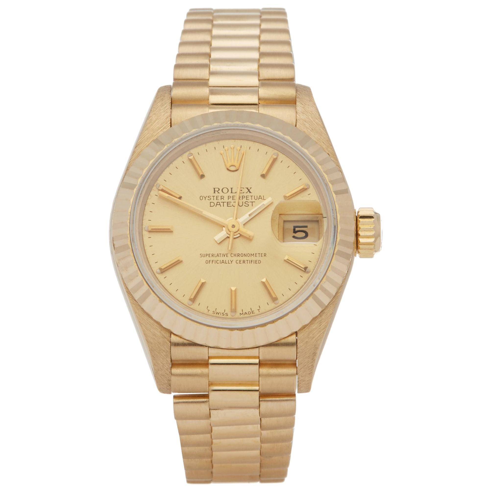 Rolex Datejust 26 69178 Ladies Yellow Gold Watch
