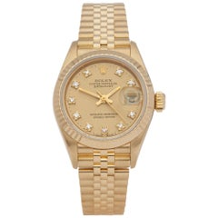 Rolex Datejust 26 69178G Ladies Yellow Gold Diamond Watch