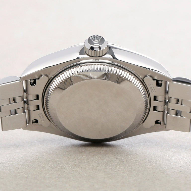 Rolex Datejust 26 79174 Ladies White Gold & Stainless Steel Watch For Sale 4