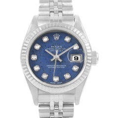 Rolex Datejust 26 Blue Sodalite Diamond Steel Ladies Watch 79174