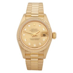 Rolex DateJust 26 Diamond 18 Karat Yellow Gold 69178G