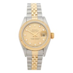 Rolex Datejust 26 Diamond Stainless Steel and Yellow Gold 69173G