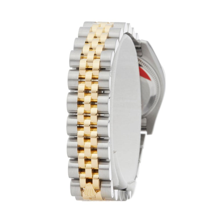 Rolex DateJust 26 Diamond Stainless Steel and Yellow Gold 179173 For Sale 1