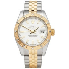 Rolex Datejust 26 Fluted Diamond Bezel Stainless Steel and 18 Karat Gold 17931