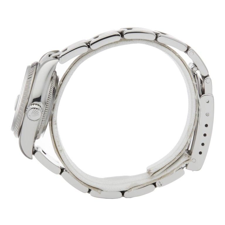 Rolex Datejust 26 Graduated Diamond Stainless Steel 69174 In Excellent Condition For Sale In Bishops Stortford, Hertfordshire