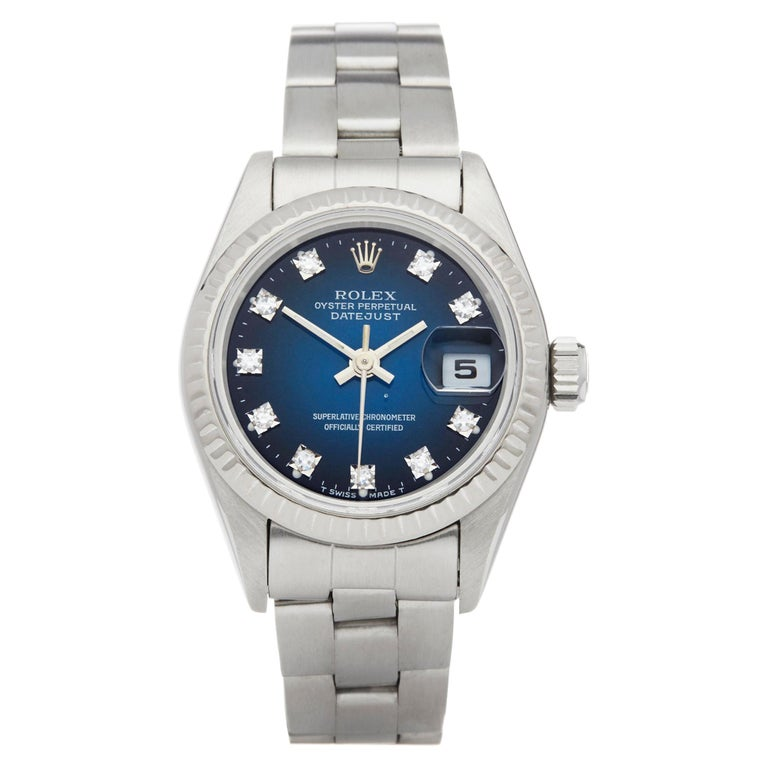 Rolex Datejust 26 Graduated Diamond Stainless Steel 69174 For Sale