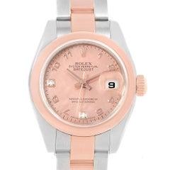 Rolex Datejust 26 Steel Everose Gold Rose Diamond Dial Ladies Watch 179161