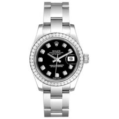 Rolex Datejust 26 Steel White Gold Diamond Ladies Watch 179384