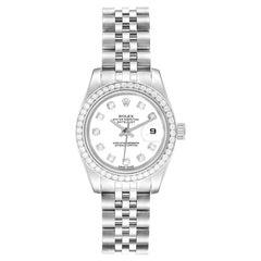 Rolex Datejust 26 Steel White Gold Diamond Ladies Watch 179384