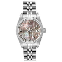 Rolex Datejust 26 Steel White Gold Mother of Pearl Ladies Watch 79174 Box