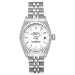 Rolex Datejust 26 Steel White Gold White Dial Ladies Watch 69174