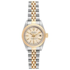 Rolex Datejust 26 Steel Yellow Gold Anniversary Dial Ladies Watch 69173