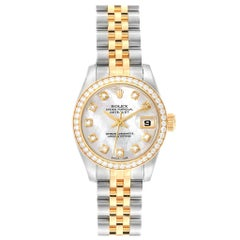 Rolex Datejust 26 Steel Yellow Gold Mother of Pearl Diamond Ladies Watch 179383