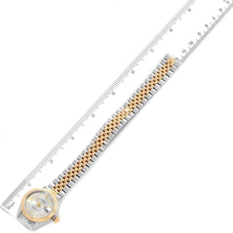 Rolex Datejust 28 Steel Yellow Gold Diamond Ladies Watch 279173 Box Card 6
