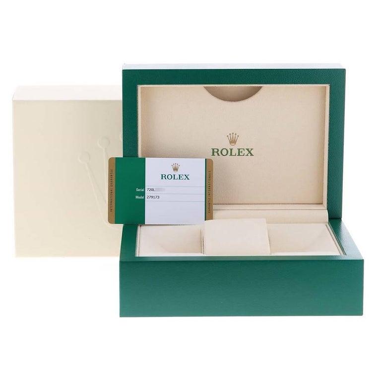 Rolex Datejust 28 Steel Yellow Gold Diamond Ladies Watch 279173 Box Card 8