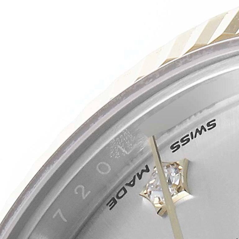 Rolex Datejust 28 Steel Yellow Gold Diamond Ladies Watch 279173 Box Card 2