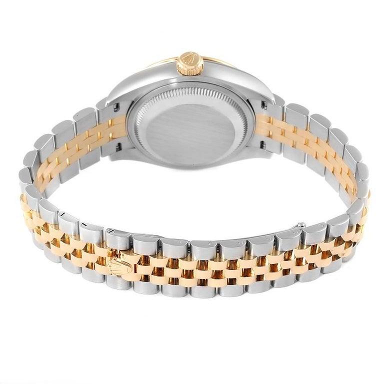 Rolex Datejust 28 Steel Yellow Gold Diamond Ladies Watch 279173 Box Card 5
