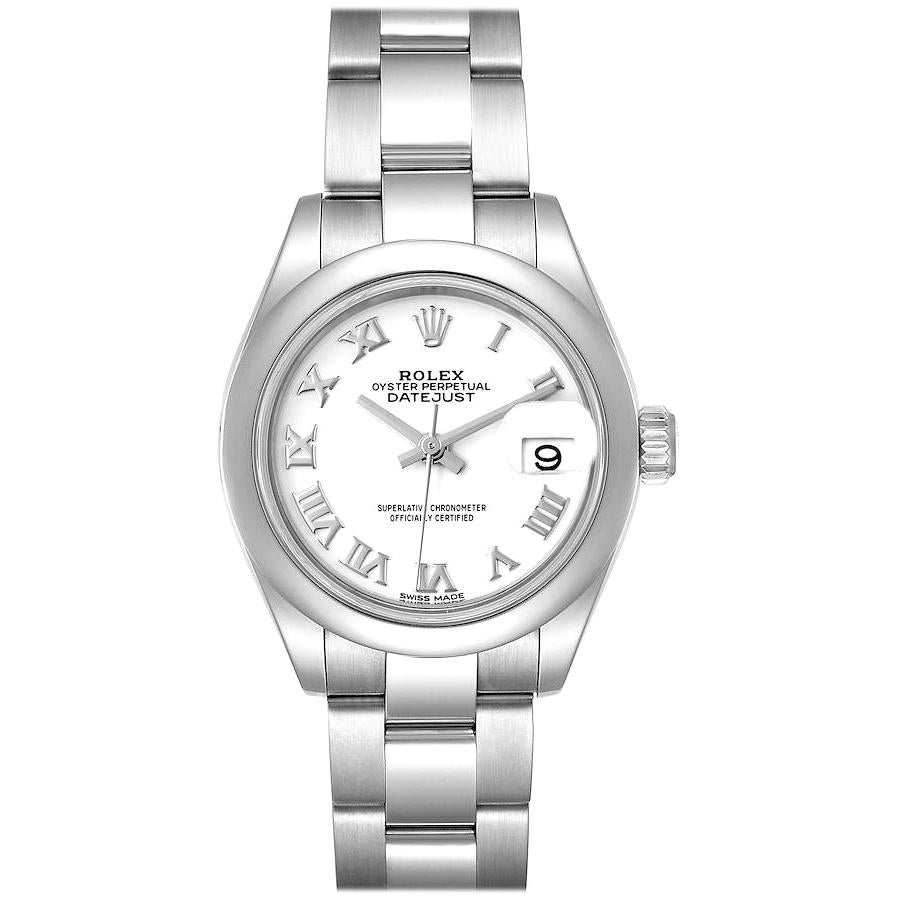 Rolex Datejust 28 White Dial Steel Ladies Watch 279160 Box Card