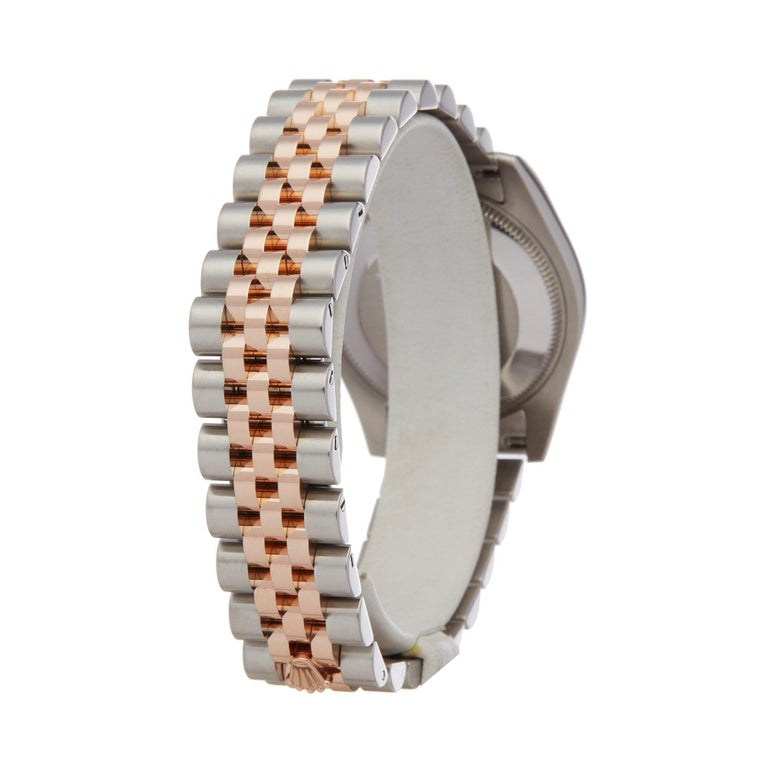 Rolex Datejust 31 178241 Ladies Stainless Steel & Rose Gold Jubilee Diamond Dial For Sale 1