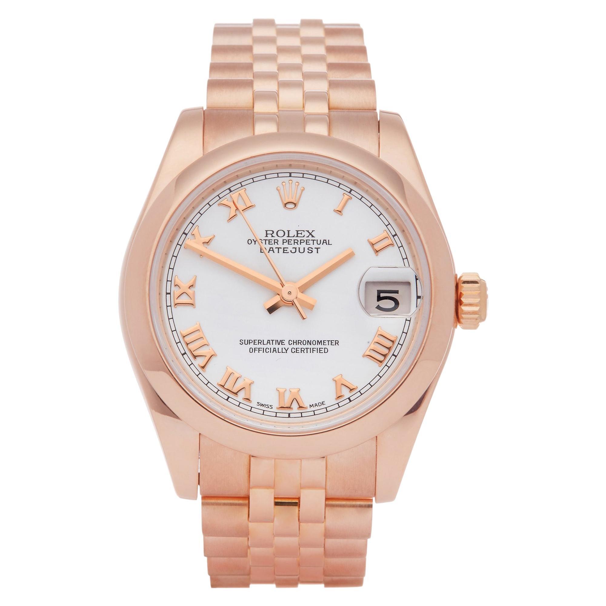 Rolex Datejust 31 178245 Ladies Rose Gold Watch