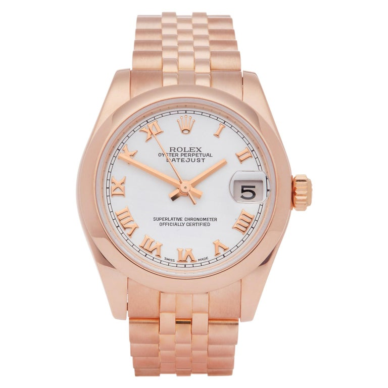 Rolex Datejust 31 178245 Ladies Rose Gold Watch For Sale