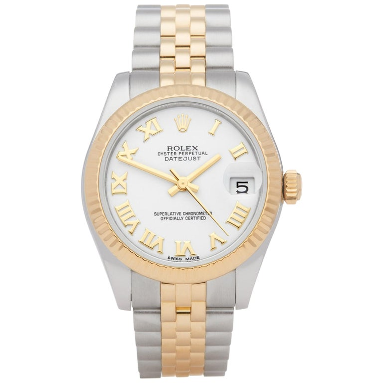 Rolex Datejust 31 178273 Ladies Stainless Steel and Yellow Gold Watch For Sale