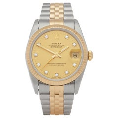 Rolex Datejust 31 68273 Ladies Stainless Steel and Yellow Gold Diamond Watch