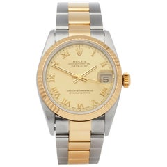Rolex Datejust 31 68273 Ladies Stainless Steel and Yellow Gold Watch