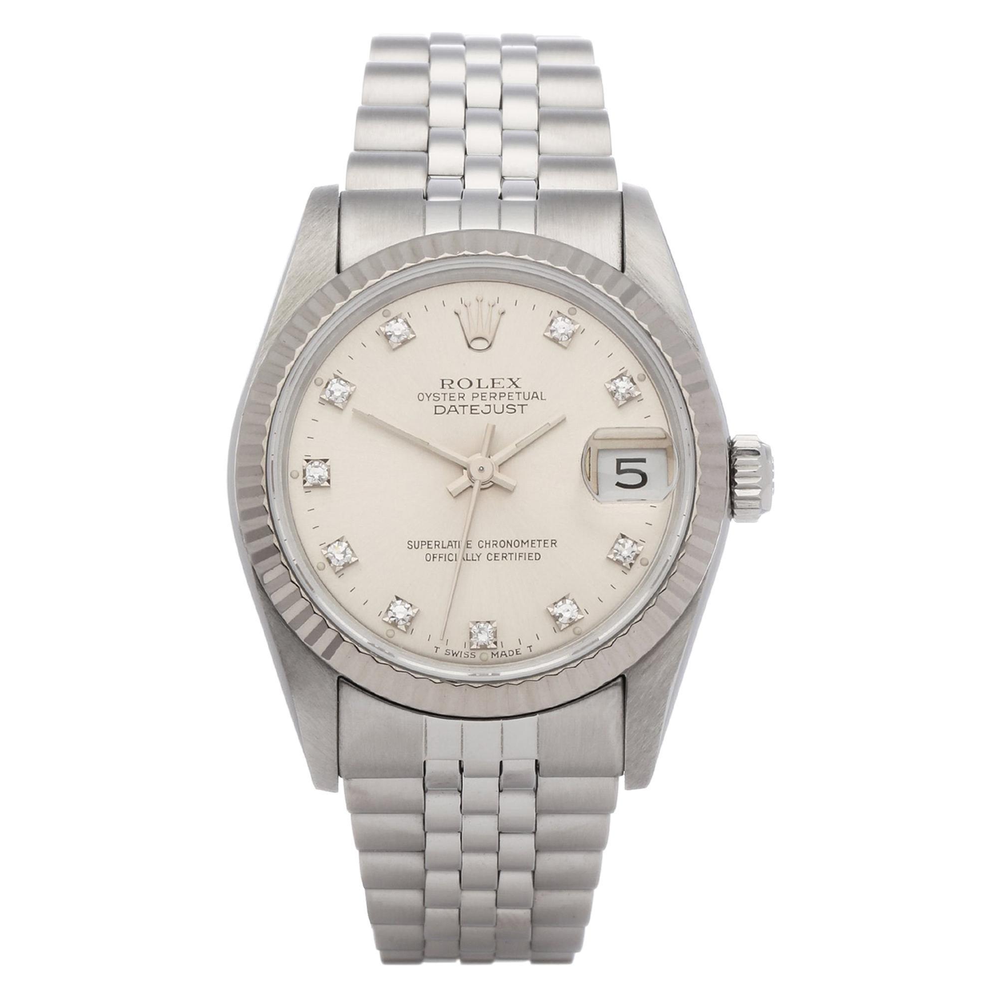 Rolex Datejust 31 68274 Ladies Stainless Steel Watch
