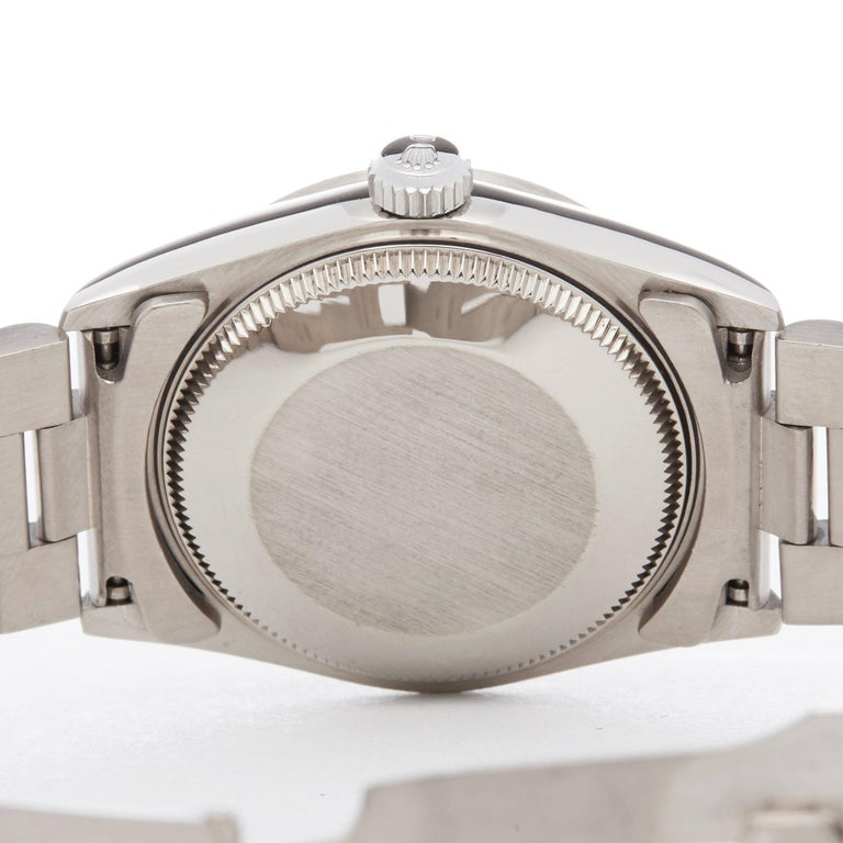 Rolex Datejust 31 68279 Ladies White Gold Diamond Watch For Sale 2