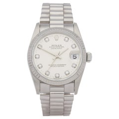Rolex Datejust 31 68279 Ladies White Gold Diamond Watch